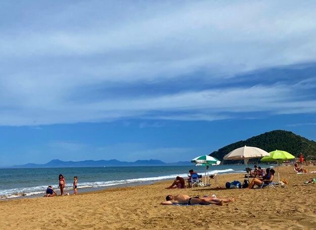 Cilento Strand nach Corona